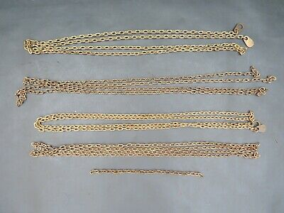 Job lot of vintage brass clock chain - spares parts