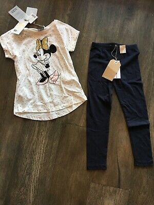 NWT COTTON ON KIDS - DISNEY - MINNIE  MOUSE Top And Blue Legging - Size 4