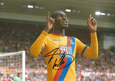 Christian Benteke Crystal Palace 12x8 hand signed authentic football photo SS093