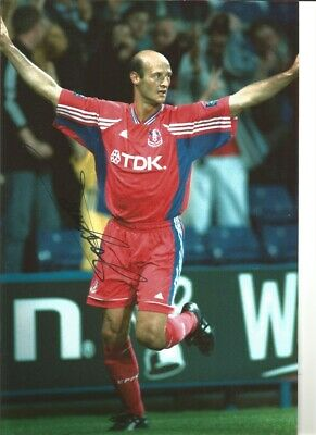 Attilio Lombardo Crystal Palace 12x8 hand signed authentic football photo SS107