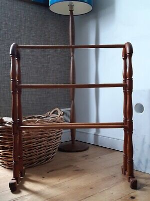 Fabulous Vintage Stripped Pine Towel Rail / Stand / Book Holder / Display Stand