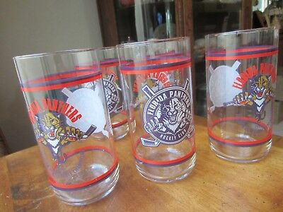 Florida Panthers Hockey Club Glasses, 1996 Eastern Conference Champs, set of 5