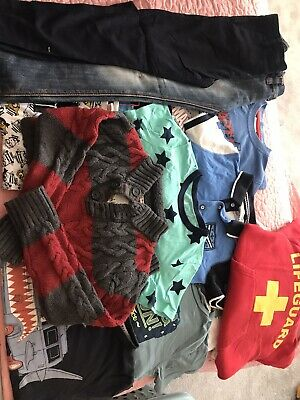 Boys Clothes Bundle Age 4-5 Including Fat Face, Next And Characters