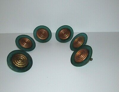 Vintage Beautiful  Green Acrylic  Drawer Knobs  Handle Pulls (1940-1950)
