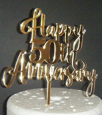 Love with Swirly Tail Wedding Anniversary Cake Topper Acrylic or Wood