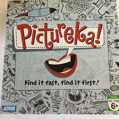 Hasbro Pictureka Find It Fast Game Parker Bros Contents SEALED Open Box