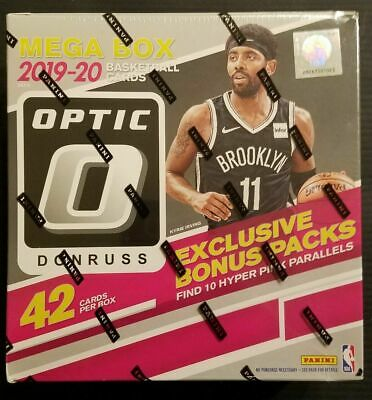 2019-20 Panini Donruss Optic Basketball Sealed Mega Box 10 PACKS SEALED