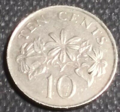 Singapore : 1990   10 Cents   Coin      Km  # 51