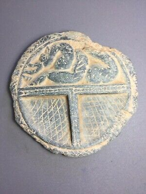 Ancient gandhara grey schist cosmetic plate