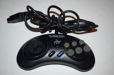 Super Pad 6-Button Gamepad Controller for Sega Genesis Console Video Game System