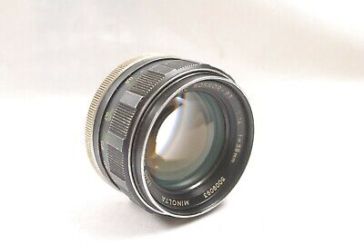 58mm f1.4 FAST Minolta MC Rokkor PF lens, Images nicely, well used