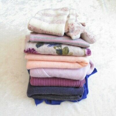 Felted Sweater Wool Cashmere Cutter Scrap Lot Pink Purple Floral Lilac 2.5lb