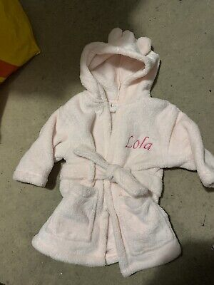 My First Years Baby Girls Lola Pink Dressing Gown Age 0-6 Months