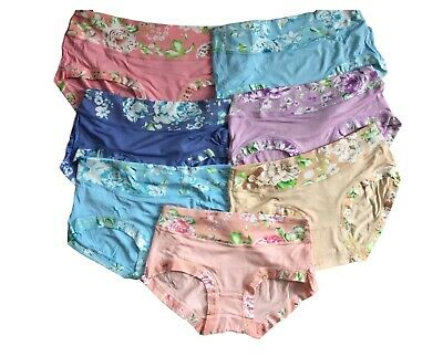 Soft Girls Underwear 7 Pack Bamboo Floral Cotton Briefs/Pants/Knickers 11-16 yrs