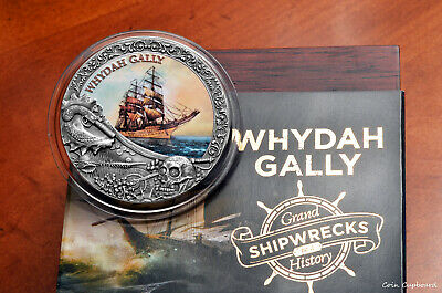 """2019 Niue - 1st issue in """"Grand Shipwrecks in History"""" series, WHYDAH GALLY 2oz"""