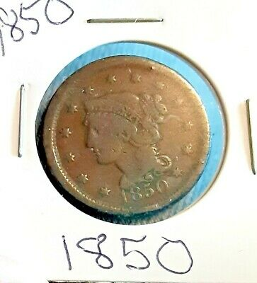 1850 LARGE CENT COIN low mintage