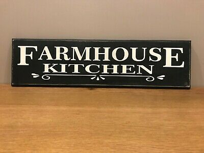 FARMHOUSE KITCHEN Sign Vintage Old Antique Style gift hand painted LARGE