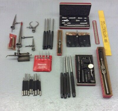 Large Lot Of Starrett Calipers Machinist Tools Gages Drive Punches No 711 Metal