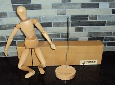 "Articulated Jointed Artists Mannequin Winsor & Newton 16"" Type A  Manikin"