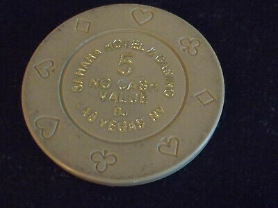 SAHARA HOTEL CASINO NO CASH VALUE hotel gaming poker chip ~ Las Vegas, NV