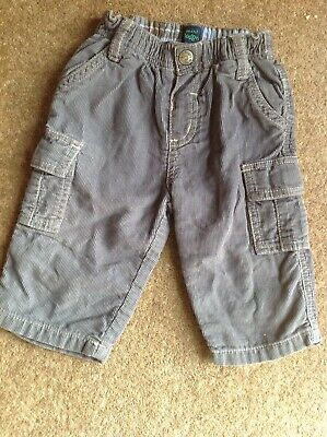 Mini Boden Boys Grey Cord Trousers Age 3-6 months