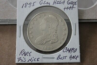 1835   Gem High Grade    Capped Bust Half Dollar