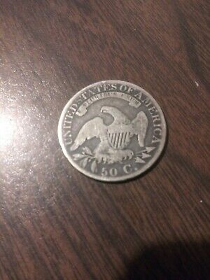 United Stated 1825 Capped Bust 50 C. Coin - Very Good Details