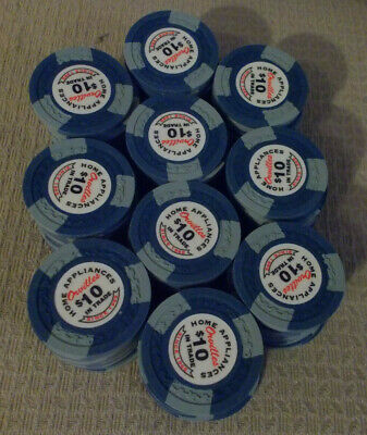ORVILLES HOME APPLIANCES $10 IN TRADE advertising casino gaming poker chips