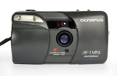 Olympus AF-1 mini point&shoot compact film camera f/3.5 35mm with strap