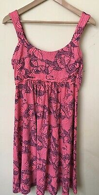 Fresh Produce Dress Cotton Boutique Size M Women's 6 8 10 Butterfly Coral Navy