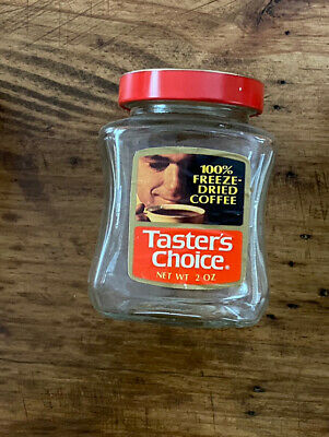 Vintage Taster's Choice 100% Freeze Dried Coffee 2 Oz Jar