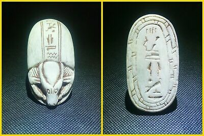 EGYPTIAN ANTIQUE ANTIQUITY Scarab Beetle Khepri Figure Sculpture 1549-1174 BC