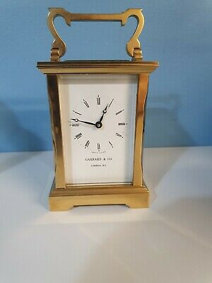 Fine Original Solid Brass Carriage Clock By Garrards & Co Perfect Working Order