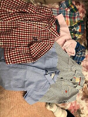 Boys Bundle Of Summer Shirts Mini Boden, Baby Gap, River Island And Mothercare