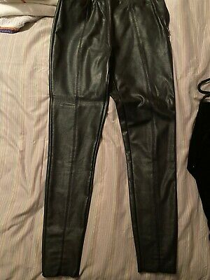 Topshop Leather Look Leggings Trousers Size 12