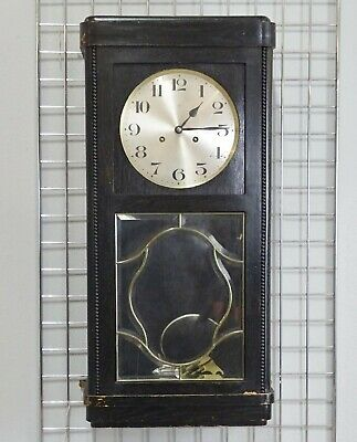 Junghans wall clock - clean and simple model with leaded glass and chimes.