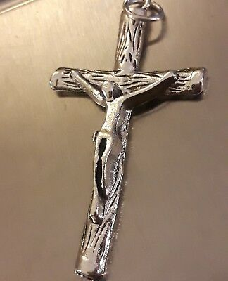 Lrg Sterling Silver Filled Tree Branch Modern Crucifix Cross Pendant New Unique