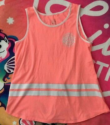 Justice Girls Logo Active Tank Top Tee Size 14/16 Plus