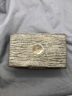 Vintage Marked Sterling Silver Box w/ Wooden Interior