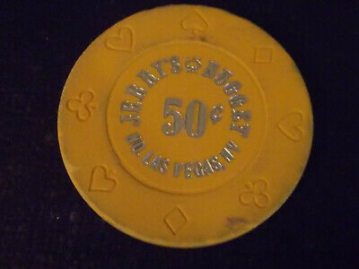 JERRY'S NUGGET CASINO 50¢ (50 cents) hotel gaming poker chip ~ Las Vegas, NV
