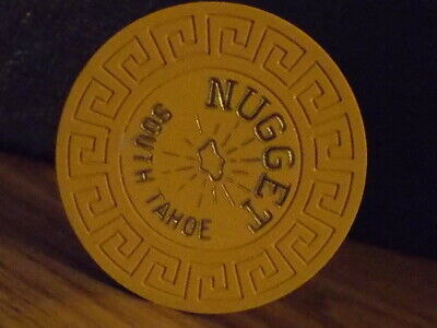 NUGGET CASINO NO CASH VALUE SHOWN hotel casino gaming poker chip ~South Tahoe NV