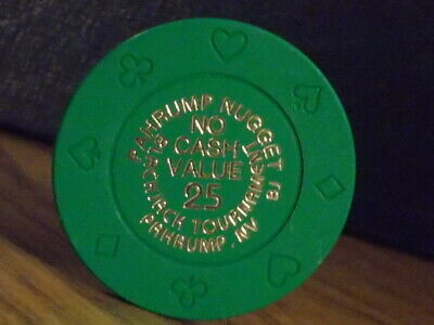 PAHRUMP NUGGET CASINO 25 NCV POKER TOURNAMENT hotel gaming poker chip ~ NV