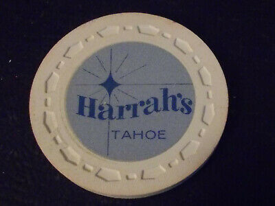 HARRAH'S TAHOE CASINO ROULETTE hotel casino gaming poker chip ~ Tahoe, NV