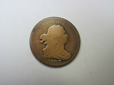 Circulated 1807 Draped Bust Half Cent Ungraded Uncertified Business Strike