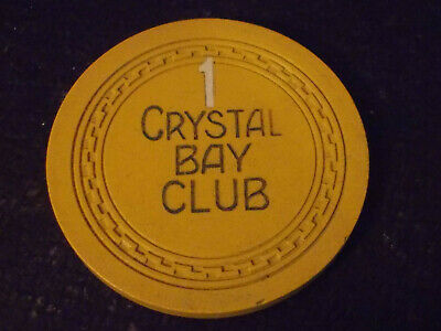 CRYSTAL BAY CLUB CASINO ROULETTE hotel casino gaming poker chip ~ Lake Tahoe, NV