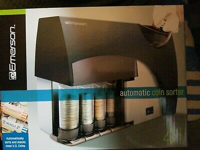 Emerson Automatic Four Barrel Coin Sorter Money Machine Quick, Durable New In...