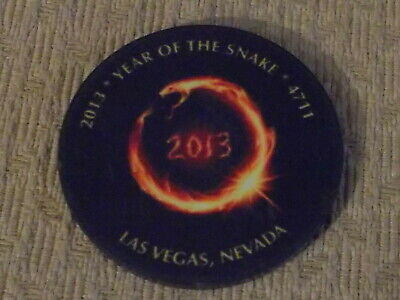 2013 YEAR OF THE SNAKE NO CASH VALUE SHOWN Hotel casino SAMPLE gaming poker chip