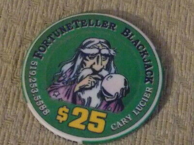 FORTUNE TELLER BLACKJACK $25  hotel casino gaming poker chip