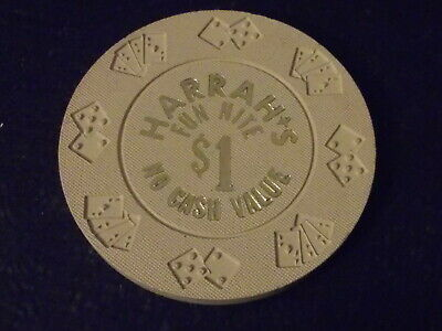HARRAH'S CASINO $1 FUN NIGHT NO CASH VALUE hotel casino gaming chip
