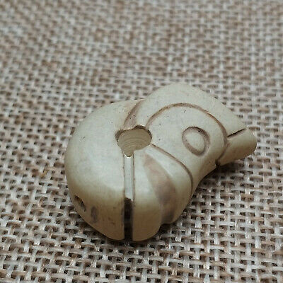 Ancient Chinese Red Mountain Culture Old Jade (Dragon Pig) Amulet Pendant
